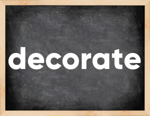 3 формы глагола decorate