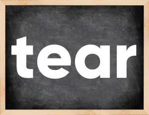 3 формы глагола tear